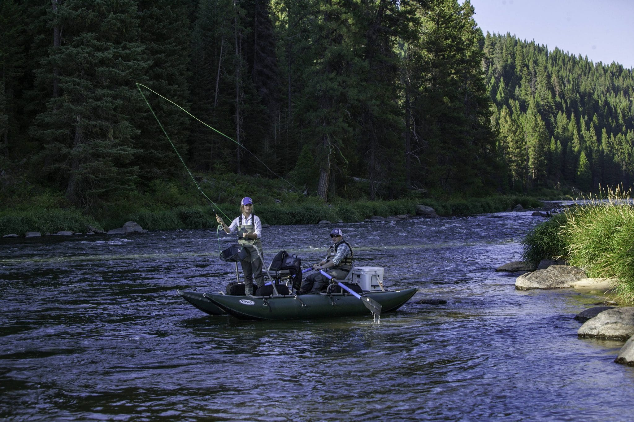 Fly fishing on the Cabarton section of the North Fork of the Payette River.